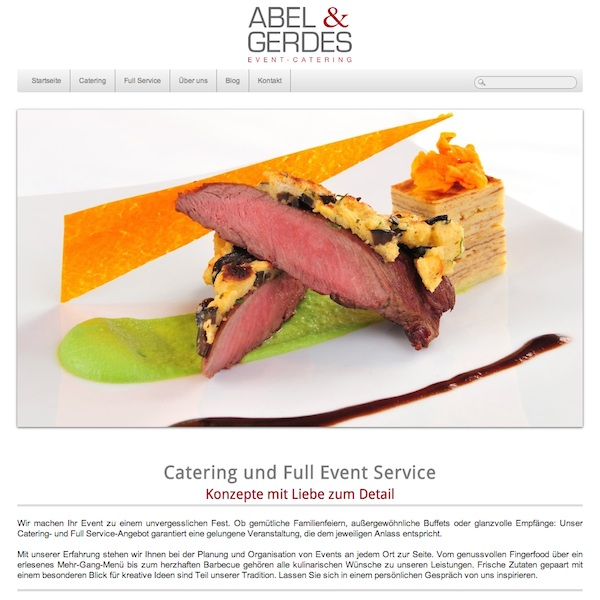 Abel & Gerdes Catering Website
